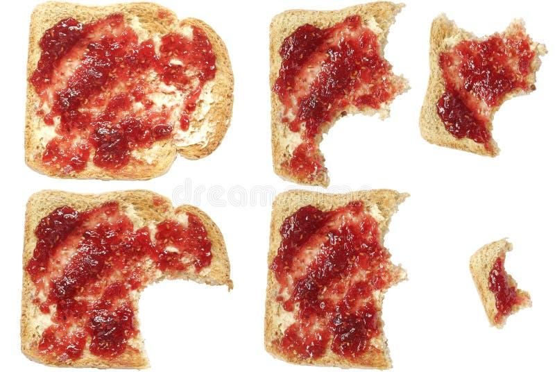 toast za zjedzona zdjęcie royalty free