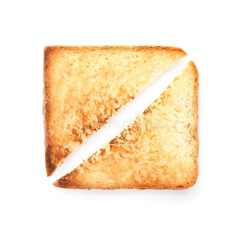 Toastbrot auf weißem Hintergrund stockbilder