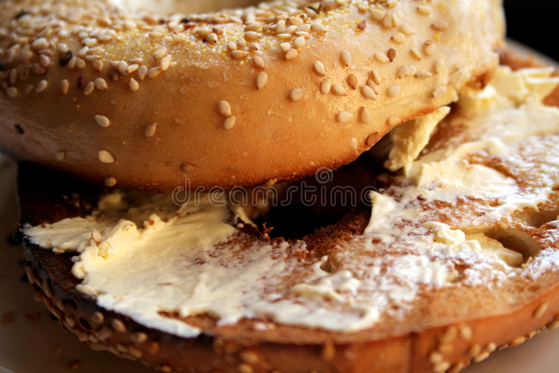 Toasted Bagel stock photos