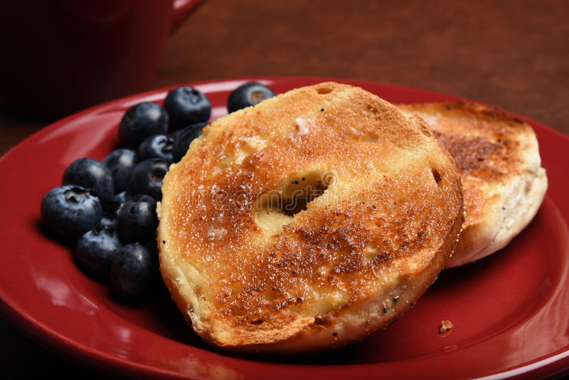 Toasted bagel stock photography