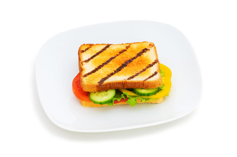 Download Toasted bread stock photo. Image of edible, plate, grilled - 11217430