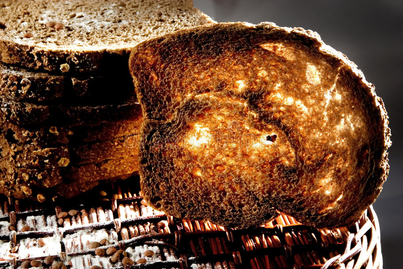 Toasted bread stock photos