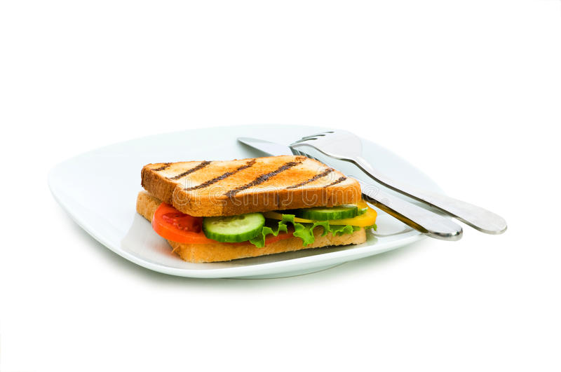 Download Toasted Bread With Filling Isolated Stock Image - Image: 9871255