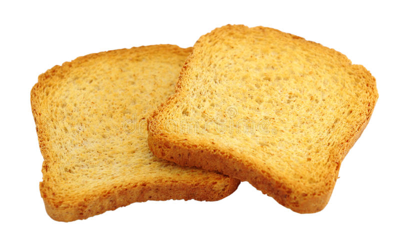 Download Toasted bread isolated stock image. Image of food, crusty - 25770141
