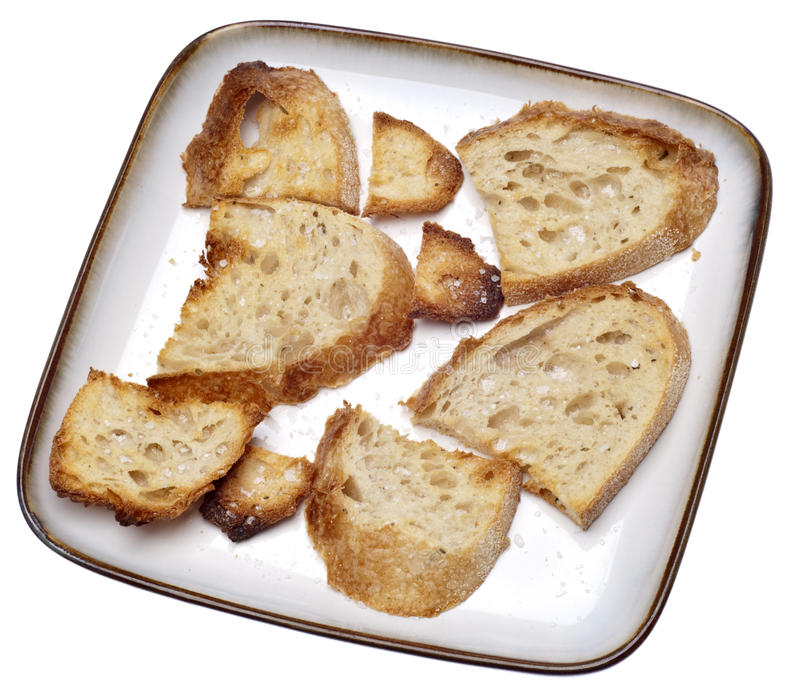 Toasted Bread Pieces Royalty Free Stock Images