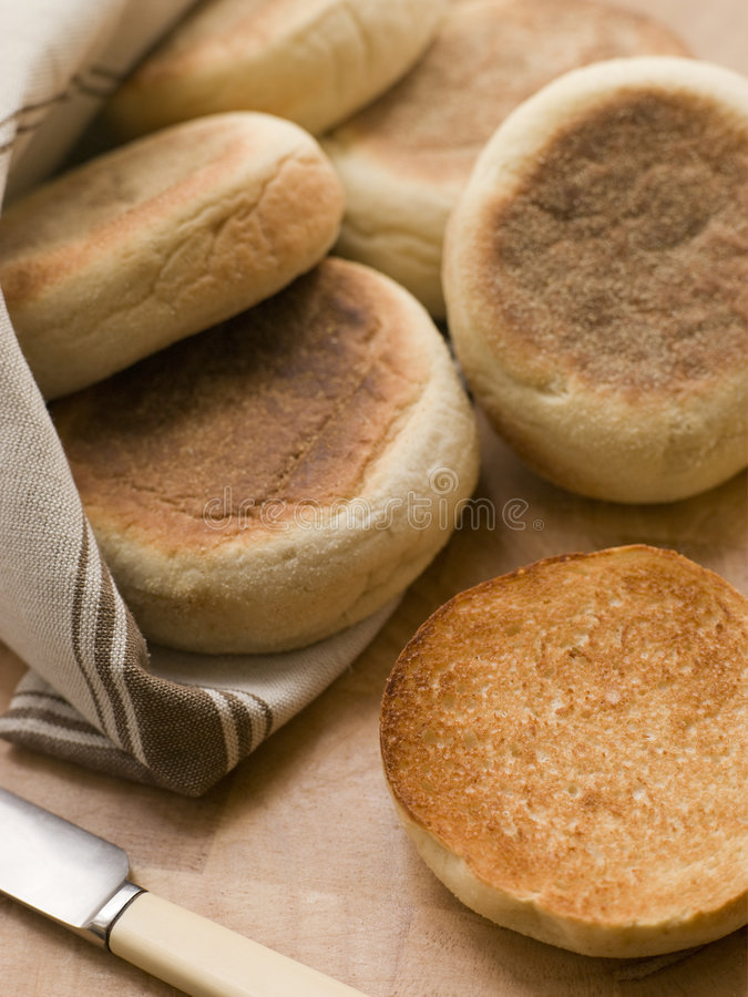 Download Toasted English Muffins stock image. Image of lunch, foods - 5627501