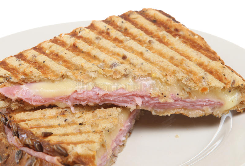 Toasted Pressed Sandwich Or Panini Royalty Free Stock Images