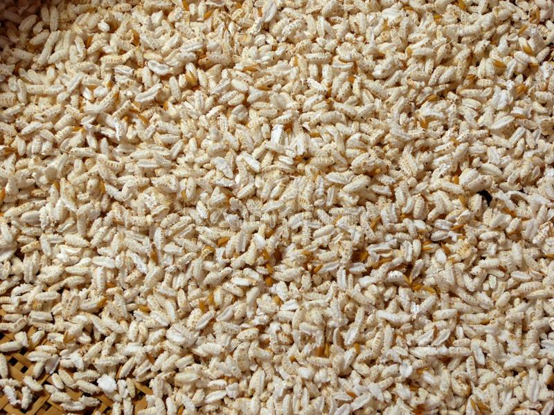 Toasted rice stock photography