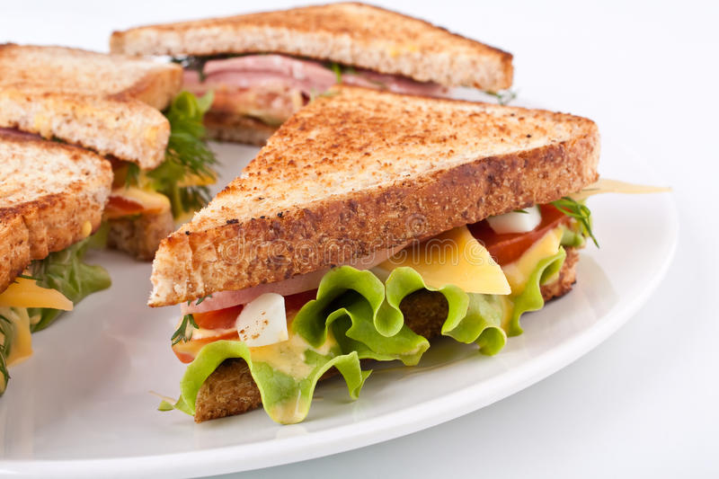 Toasted sandwiches royalty free stock image