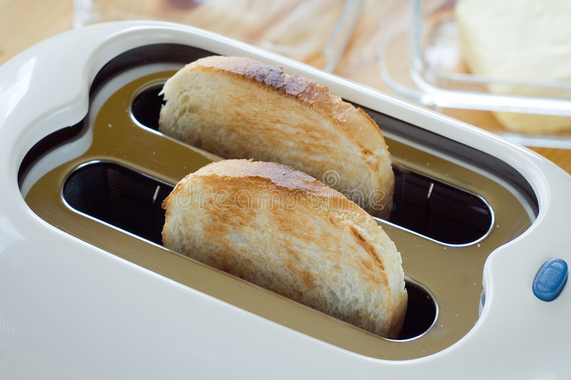 Toaster. With two slices of toast stock photography