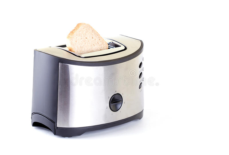 Toaster. Which is isolated on white stock photo
