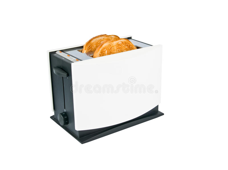 Toaster. With toasts inside isolated on white royalty free stock images