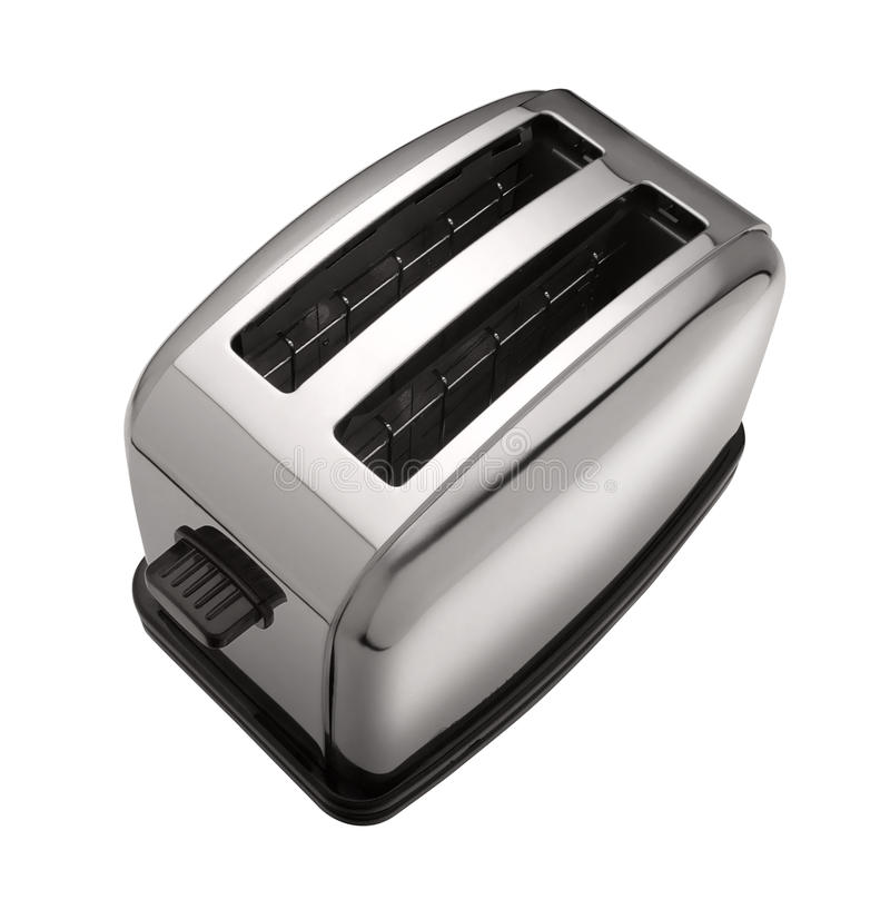 Toaster. Vintage style toaster isolated over white stock photography