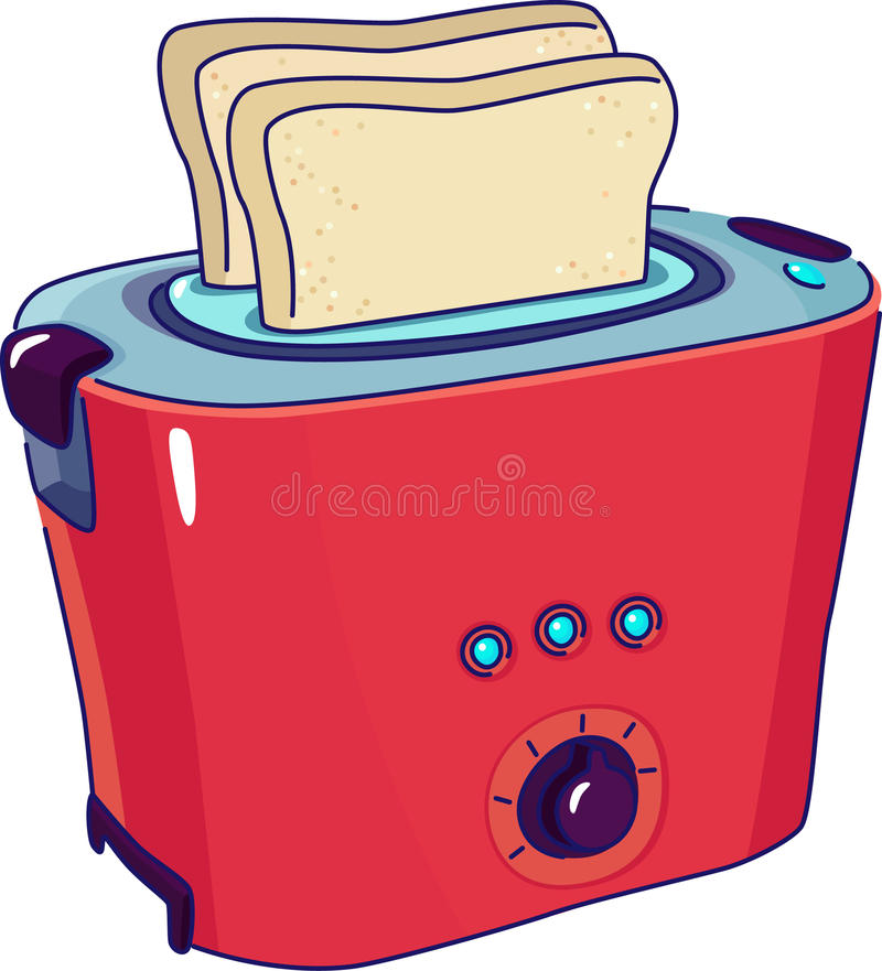 Download Toaster stock vector. Illustration of bread, housework - 19561568