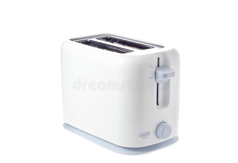 A toaster. Isolated against white background stock photos