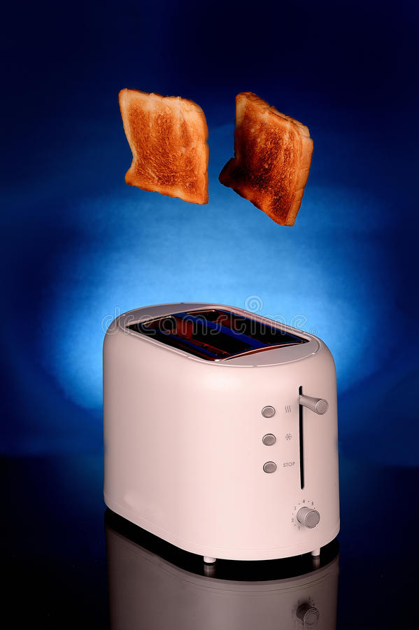 Toaster and bread stock photography
