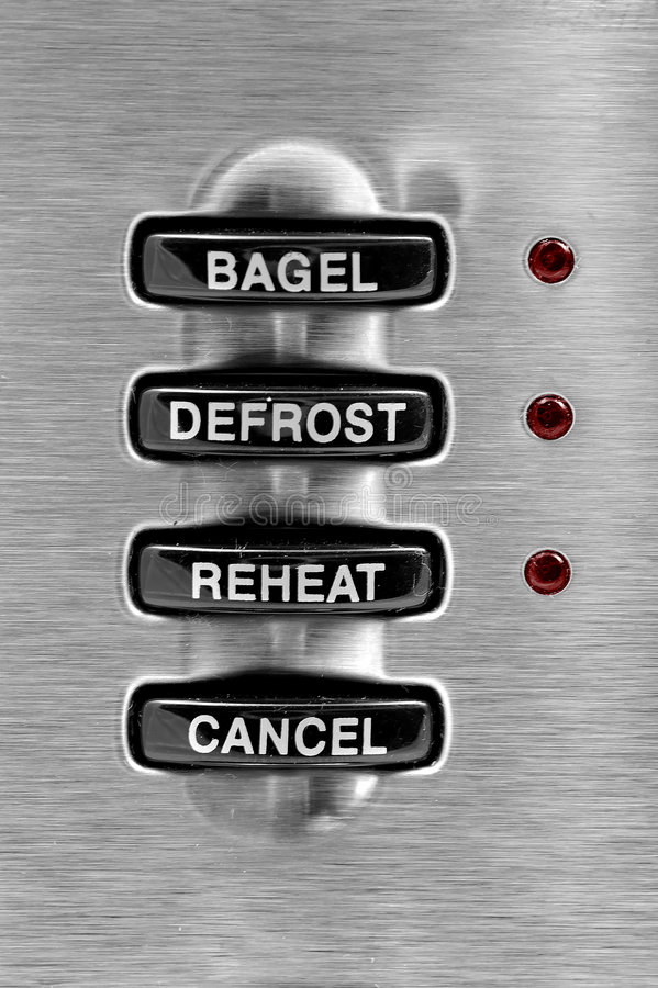 Toaster Buttons stock photo