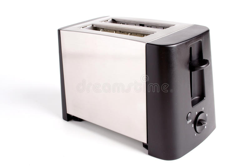 Toaster. Close-up of toaster on white background royalty free stock image