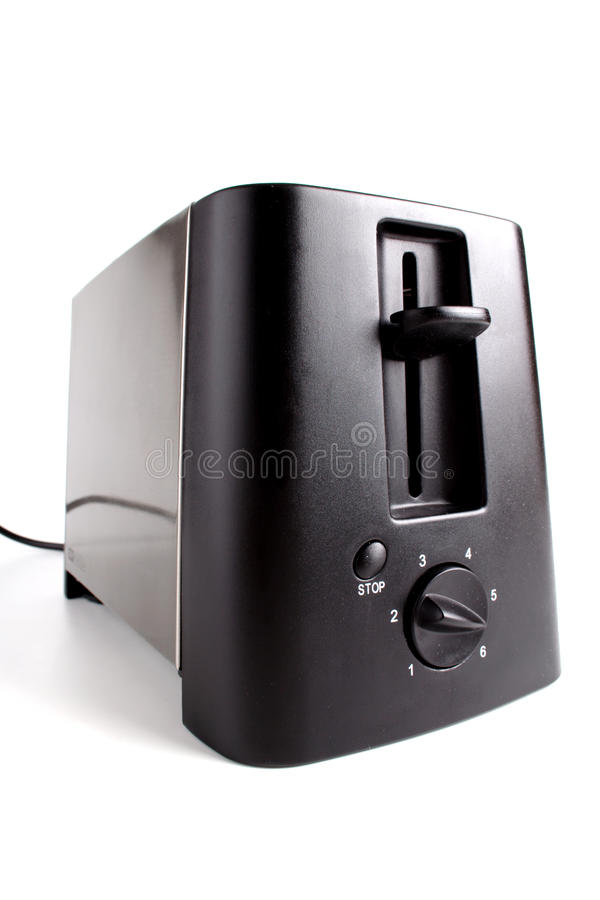 Toaster. Close-up of toaster on white background stock image