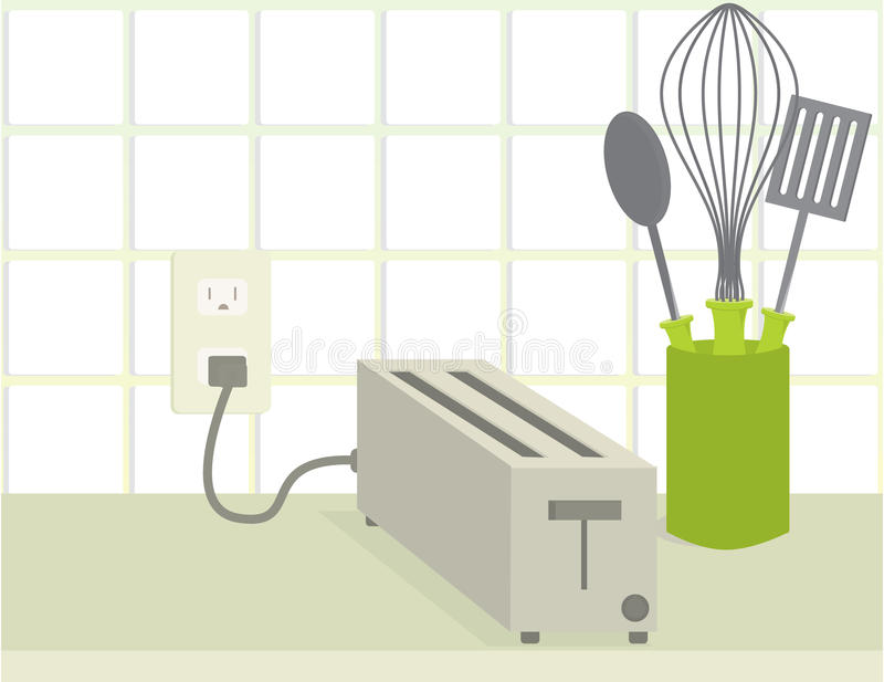 Download Toaster on counter stock vector. Illustration of toaster - 12801806