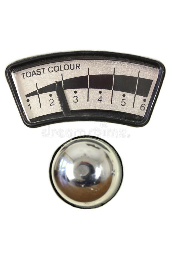 Toaster dial and chrome knob stock photography
