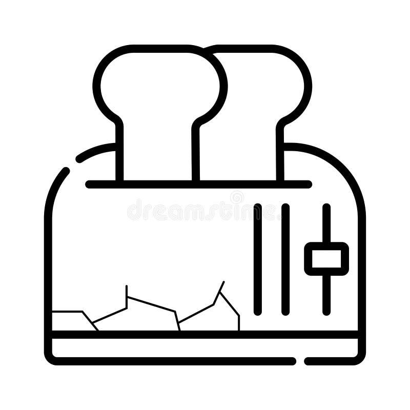 Toaster-Ikonen-Vektor stock abbildung