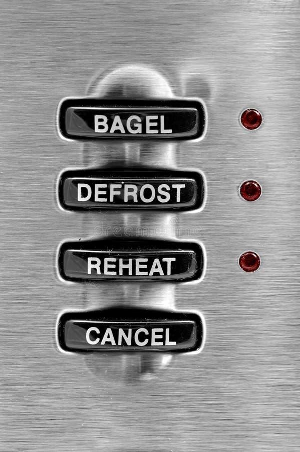Toaster-Tasten stockfoto