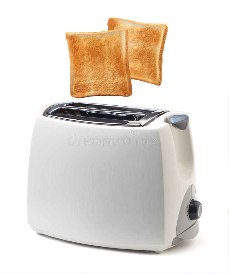 Toaster. Toast popping out of toaster stock images