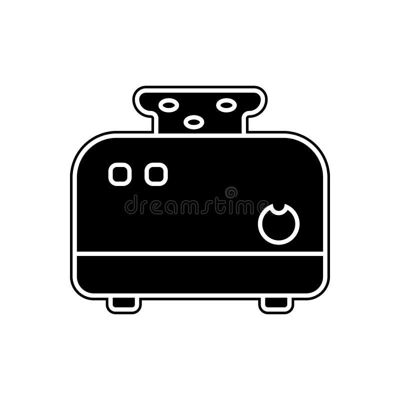 Toasterikone Element von Geräten für bewegliches Konzept und Netz Appsikone Glyph, flache Ikone für Websiteentwurf und Entwicklun stock abbildung