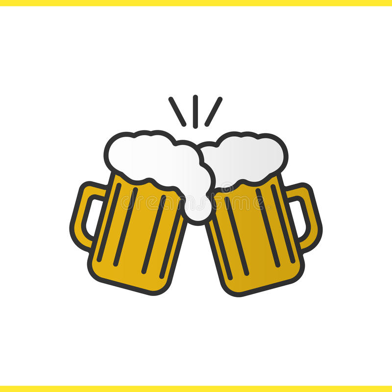 Beer Glasses Clinking Vector