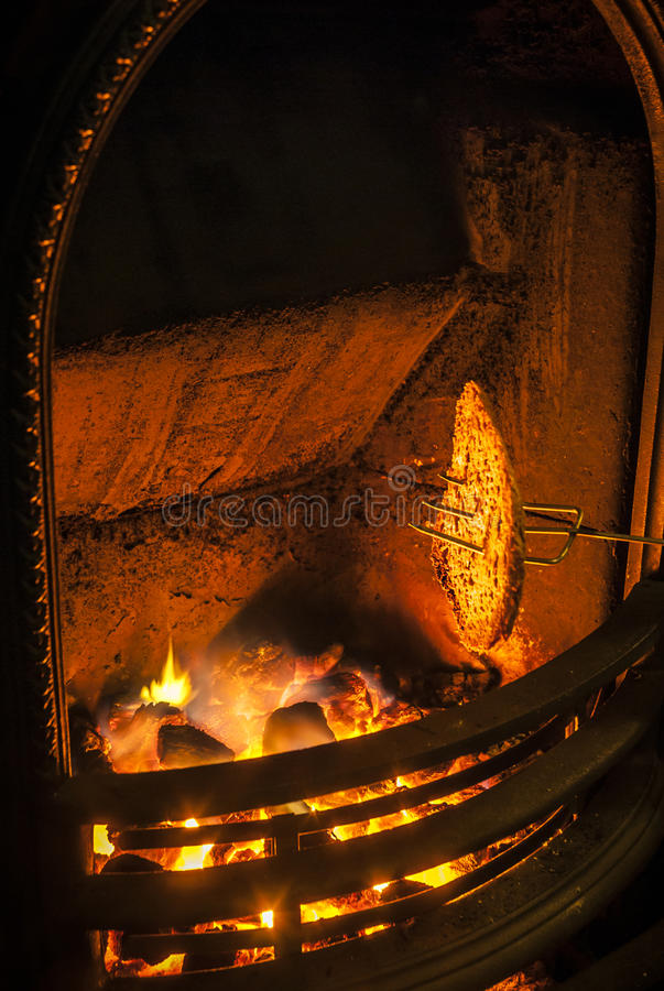 Toasting By The Fire Stock Photos