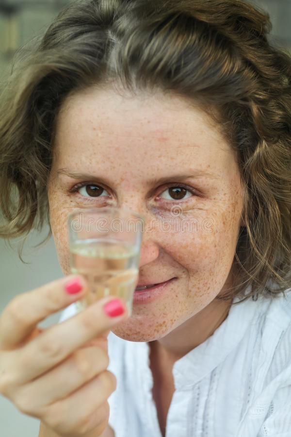 Toasting a glass stock photography