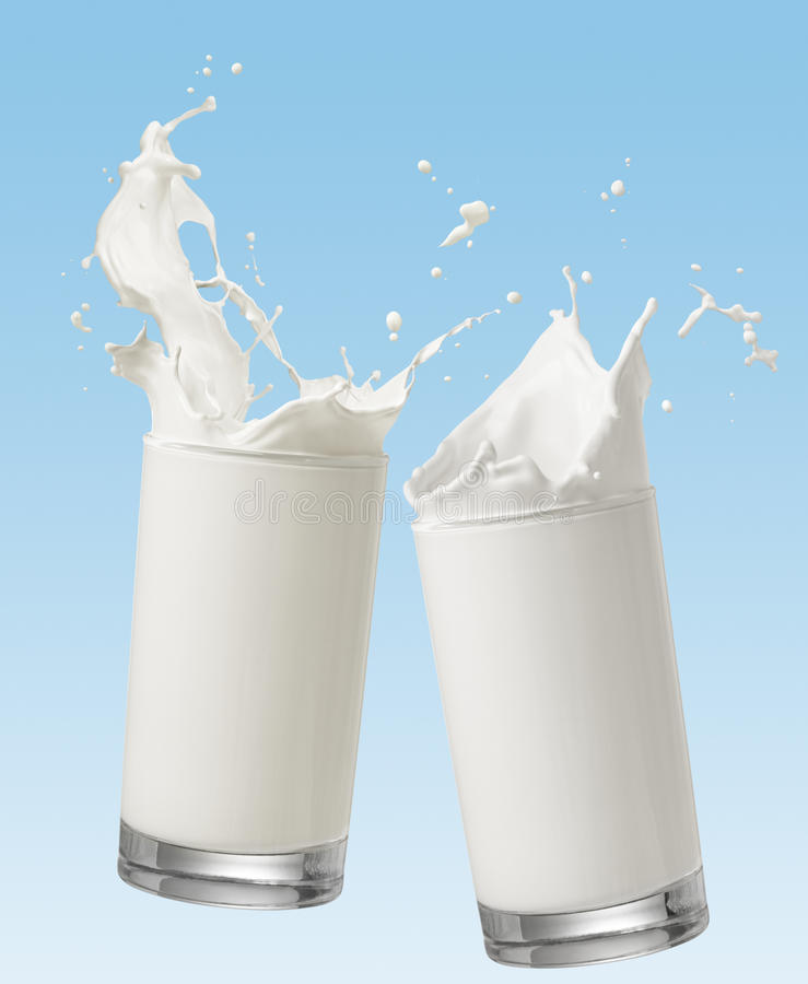 Toasting with milk stock photography