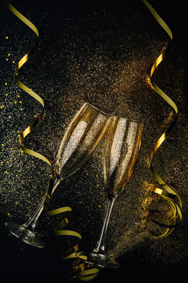 Toasting for the New Year stock photography