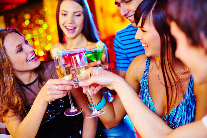 Toasting at party royalty free stock photography