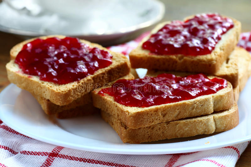 Download Toasts with jam stock image. Image of cherry, toasts - 25919431