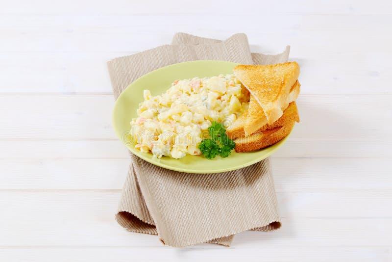Download Toasts with potato salad stock photo. Image of salad - 83708110