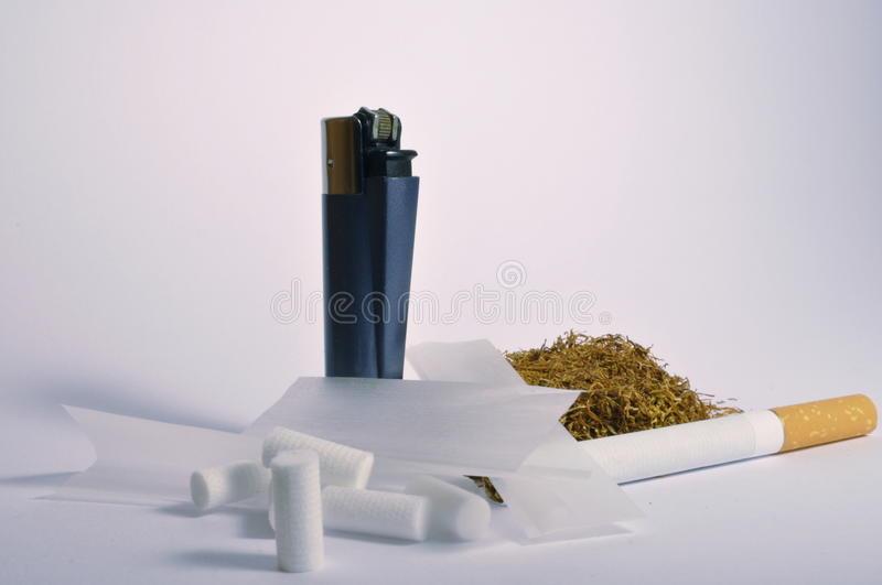 Tobacco accessories stock images