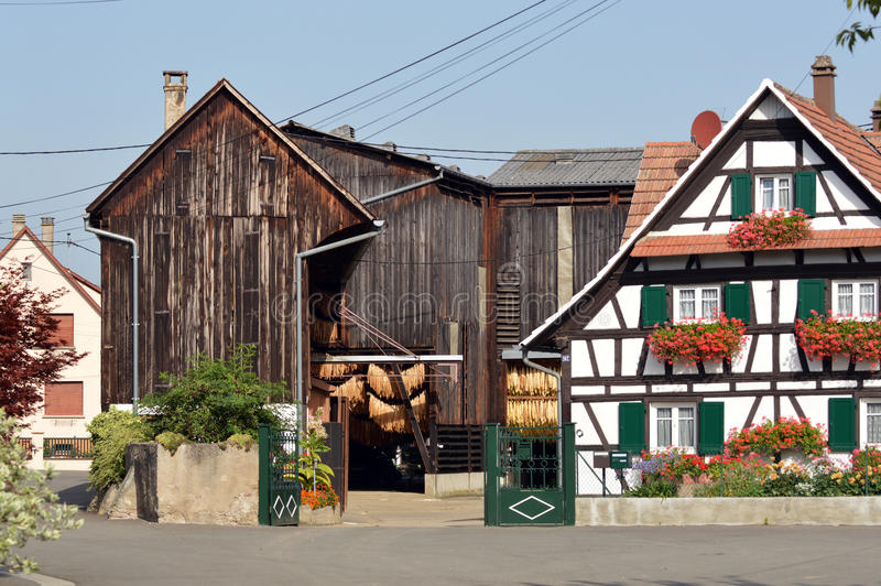 Tobacco barn stock photography