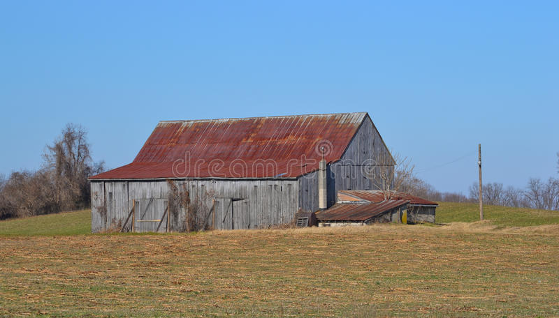 Download Tobacco Barn With Rusted Roof Stock Image - Image: 26433779