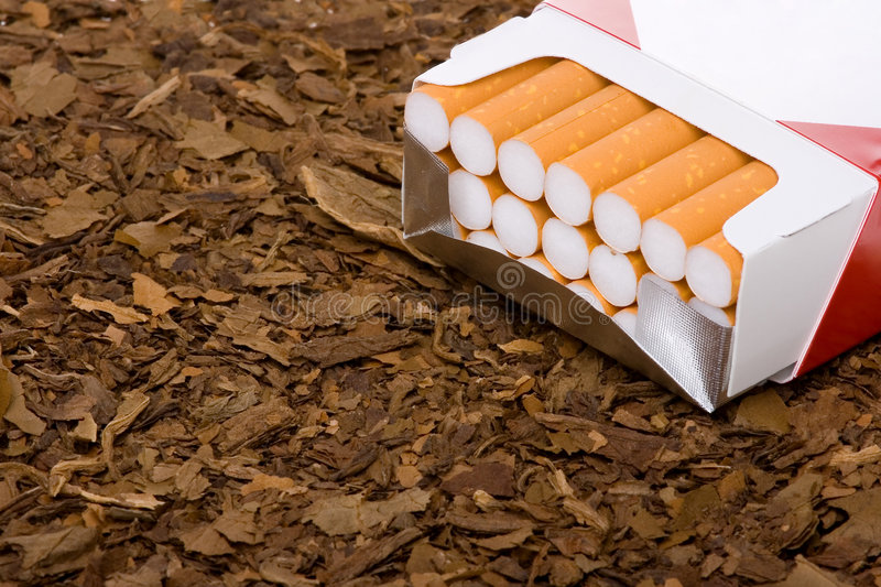 Tobacco And Cigarettes Royalty Free Stock Photos