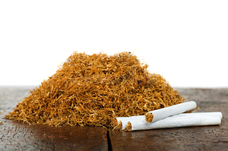 Tobacco and cigarettes stock photography