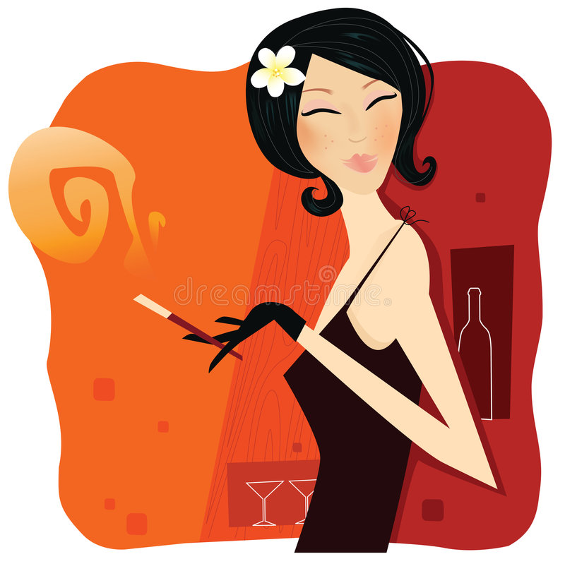 Download Tobacco passion stock vector. Image of 60th, fashion, happy - 8780148