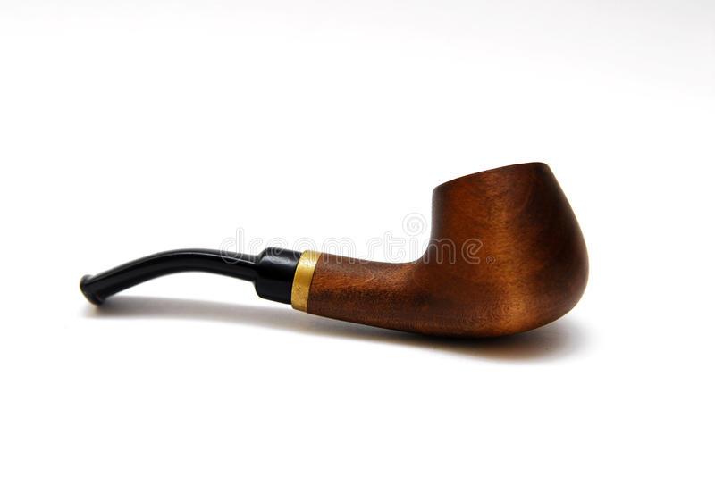 Tobacco pipe. On white background stock photo
