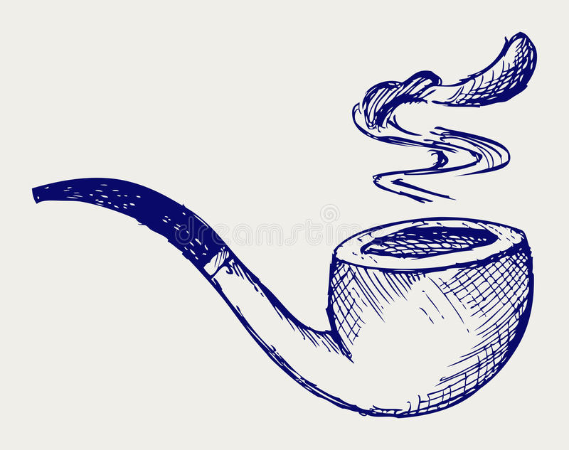 Download Tobacco pipe stock vector. Image of old, leisure, addict - 27927800