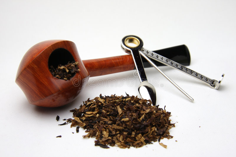 Tobacco pipe. My tobacco pipe isolated on white stock images