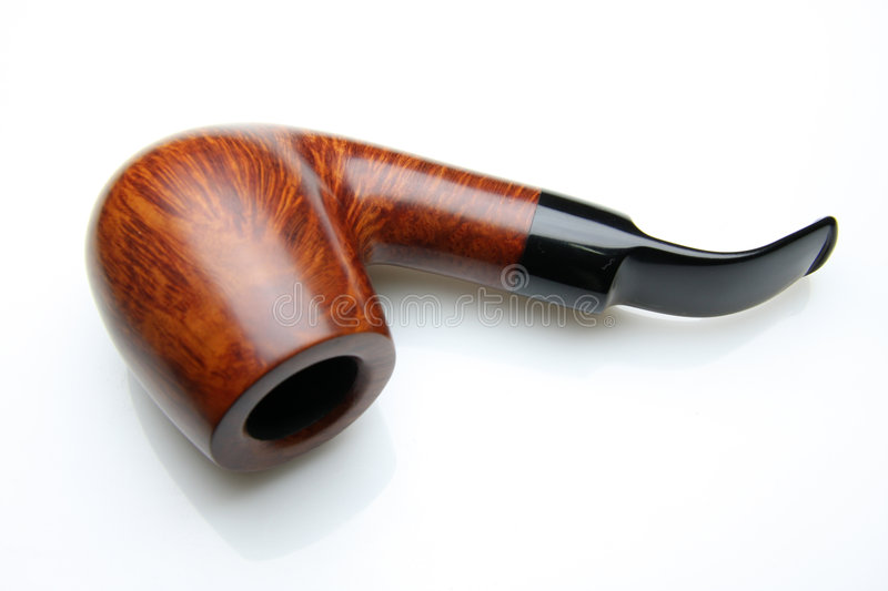 Tobacco pipe. An tobacco pipe isolated on white background royalty free stock images