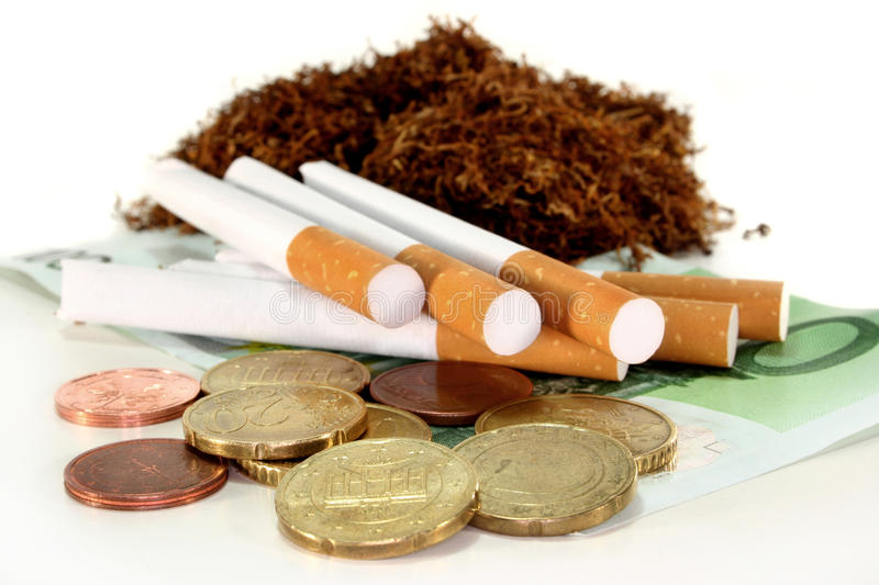Tobacco tax stock photography