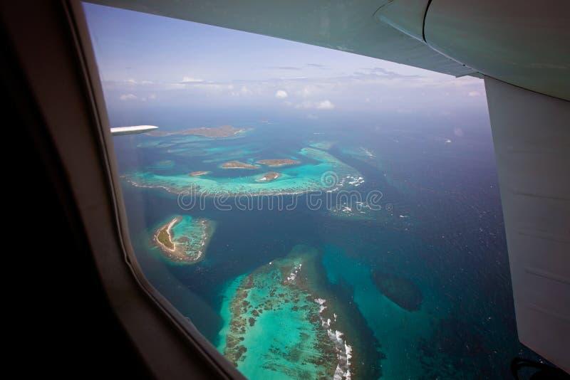 Tobago cays od samolotu obrazy royalty free