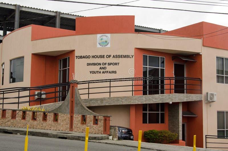 Tobago sport och ungdomdepartement, Scarborough royaltyfria foton